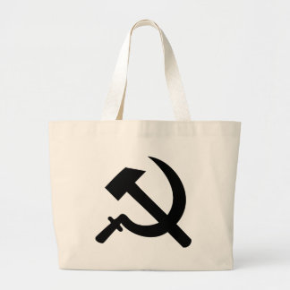 hammer and sickle icon jumbo tote bag