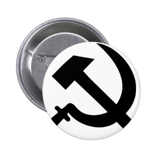 hammer and sickle icon pinback button