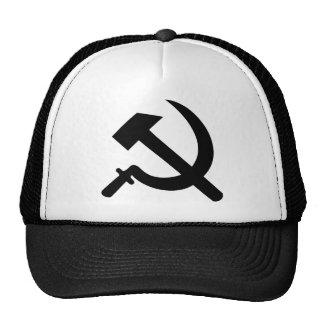 hammer and sickle icon trucker hat