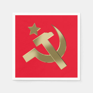 Hammer and sickle napkin