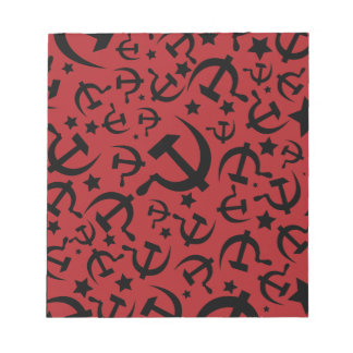 Hammer and Sickle Red & Black Notepad