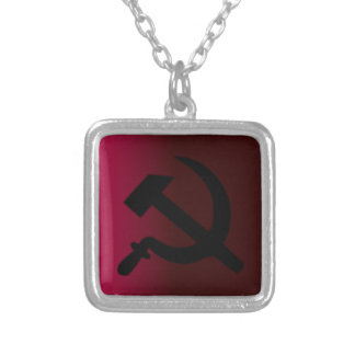 Hammer and Sickle Silver Plated Necklace
