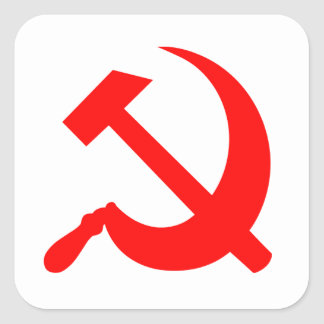 Hammer and Sickle Square Sticker