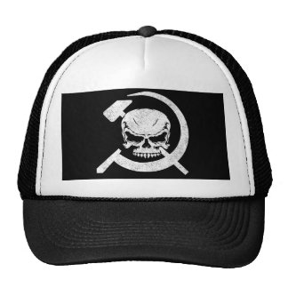 Hammer and Sickle with Skull Mesh Hat
