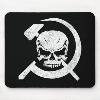 Hammer and Sickle with Skull Mouse Pad