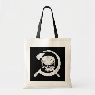 Hammer and Sickle with Skull Tote Bag