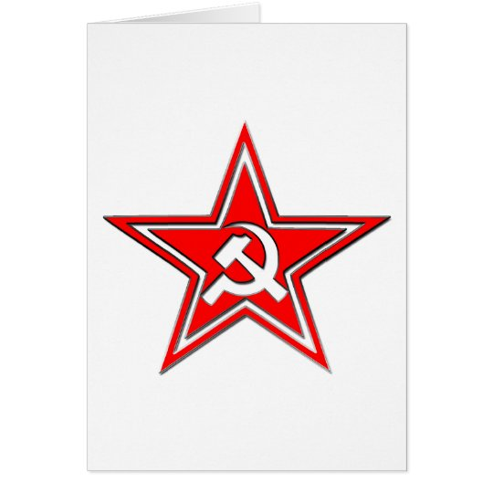 Hammer And Sickle With Star Card