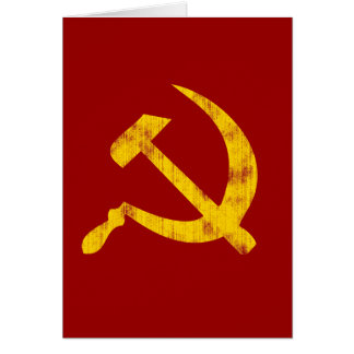 Hammer and Sickle (worn look) Card