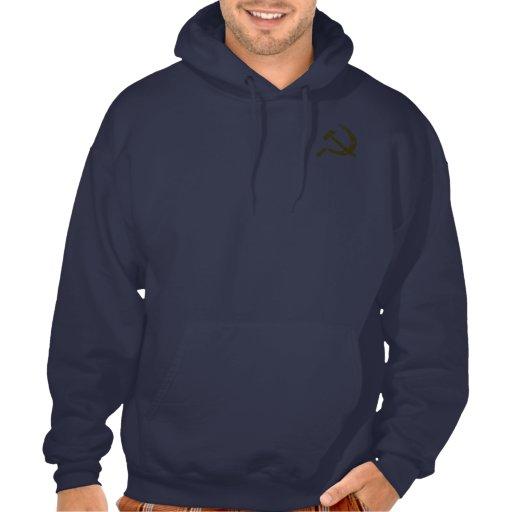 Hammer and Sickle (worn look) Hooded Sweatshirt