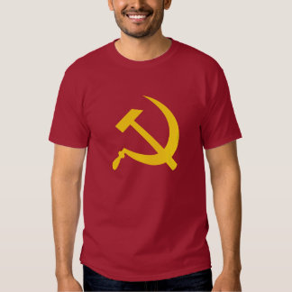 Hammer and sickle (yellow) men's t-shirt