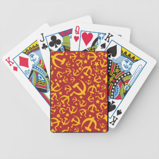 Hammer and Sickle Yellow & Red Poker Cards
