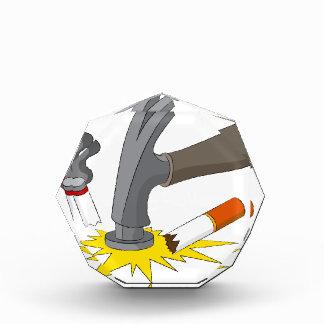Hammer Crushes Cigarette Acrylic Award