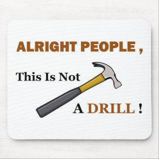 Hammer Drill Full Mouse Pad