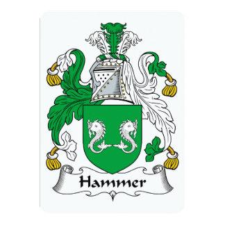 Hammer Family Crest Card