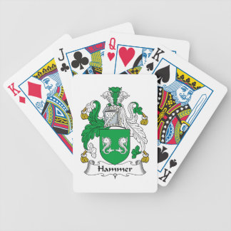 Hammer Family Crest Bicycle Playing Cards