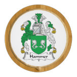 Hammer Family Crest Round Cheese Board