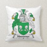 Hammer Family Crest Throw Pillows