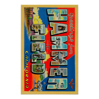 Hammer Field, California - Large Letter Scenes Poster
