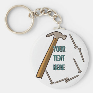Hammer & Nails Keychain
