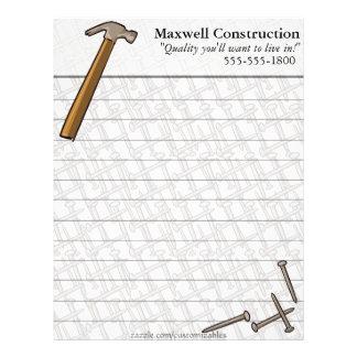 Hammer & Nails Letterhead