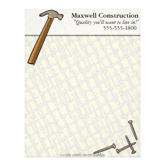 Hammer & Nails Letterhead