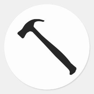 Hammer Round Sticker