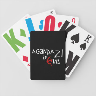 Hammer Sickle Agenda 21 is Evil Bicycle Playing Cards