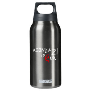 Hammer Sickle Agenda 21 is Evil Insulated Water Bottle