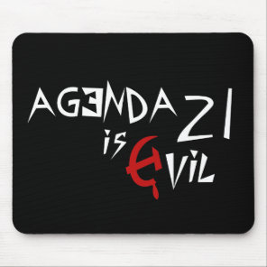 Hammer Sickle Agenda 21 is Evil Mouse Pad