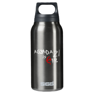 Hammer Sickle Agenda 21 is Evil 10 Oz Insulated SIGG Thermos Water Bottle
