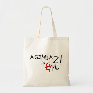 Hammer Sickle Agenda 21 is Evil Tote Bag
