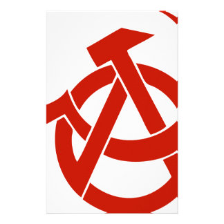 HAMMER  SICKLE ANARCHY LOGO PERSONALIZED STATIONERY