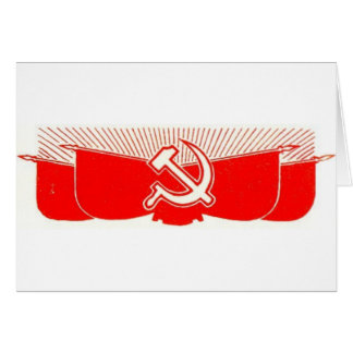 Hammer, Sickle, and Red Flags Card
