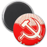Hammer, Sickle, and Red Flags Fridge Magnets