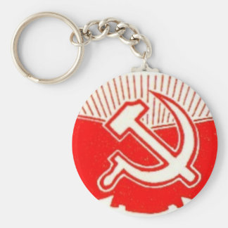 Hammer, Sickle, and Red Flags Keychains