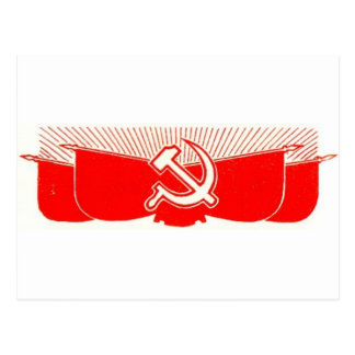 Hammer, Sickle, and Red Flags Postcard
