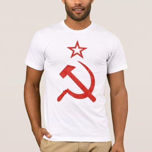 Hammer, Sickle and Star Soviet Logo for Light Tee