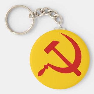 Hammer & sickle (red) keychain
