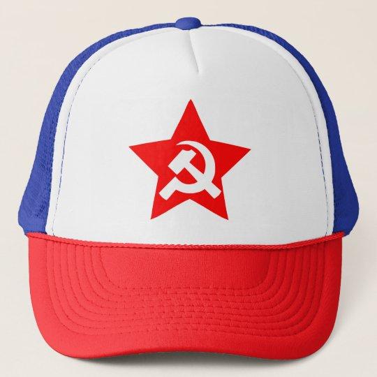 HAMMER, SICKLE & RED STAR Trucker Hat
