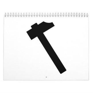 Hammer symbol calendar