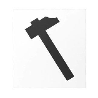 Hammer symbol notepad