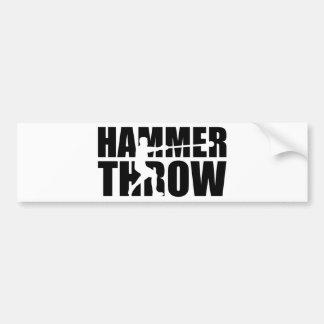 Hammer throw bumper sticker