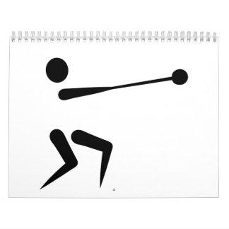 Hammer throw calendar