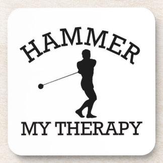 hammer throw design coasters