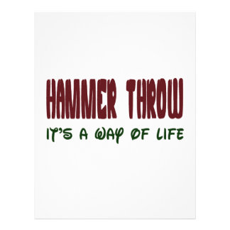 Hammer Throw It's a way of life Customized Letterhead