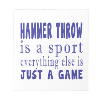 HAMMER THROW JUST A GAME NOTEPAD
