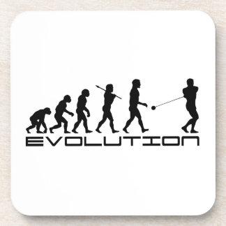 Hammer Throw Sport Evolution Art Beverage Coasters