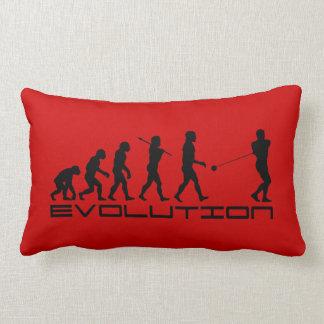 Hammer Throw Sport Evolution Art Lumbar Pillow