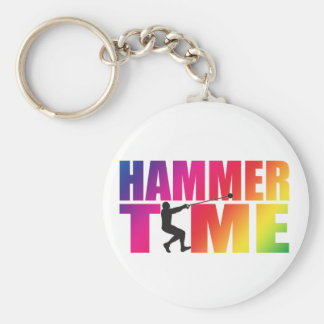 Hammer Throw Track and Field Keychain Men's