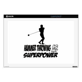 Hammer Throwing Superpower Designs Decals For Laptops